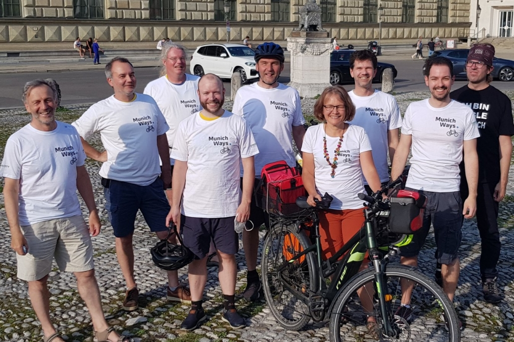 Team MunichWays auf der Critical Mass im Juli 2021